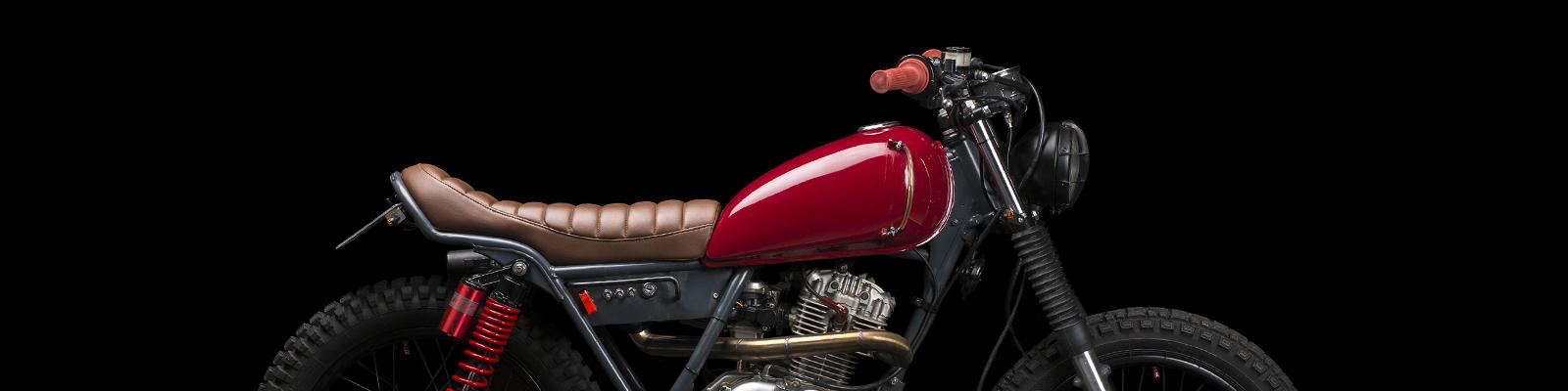 moto suzuki gn 125 scrambler cafe racer préparation ATELIER MEDUSA